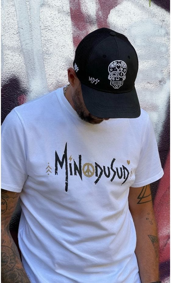 T-Shirt Mayron Blanc Minodusud Noir