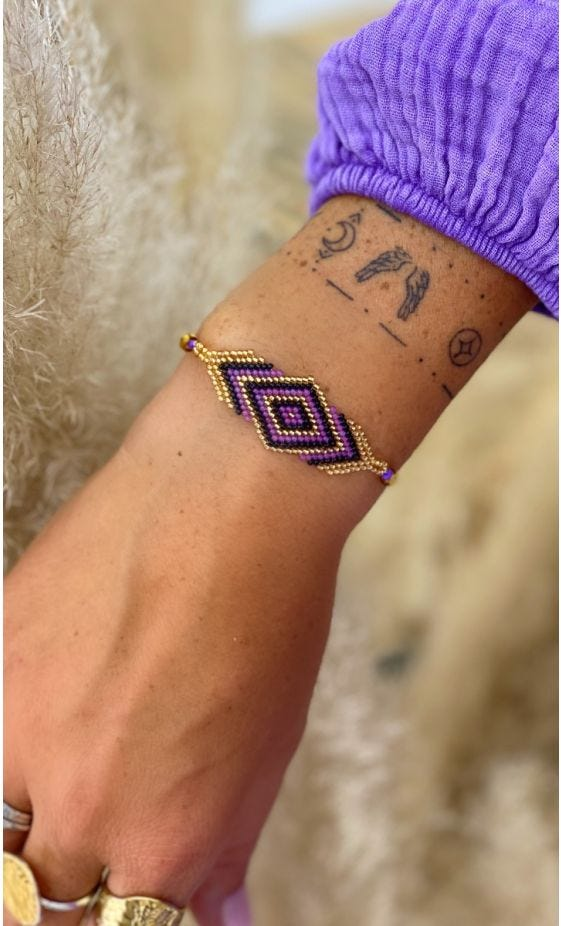Bracelet Loti Violet Or