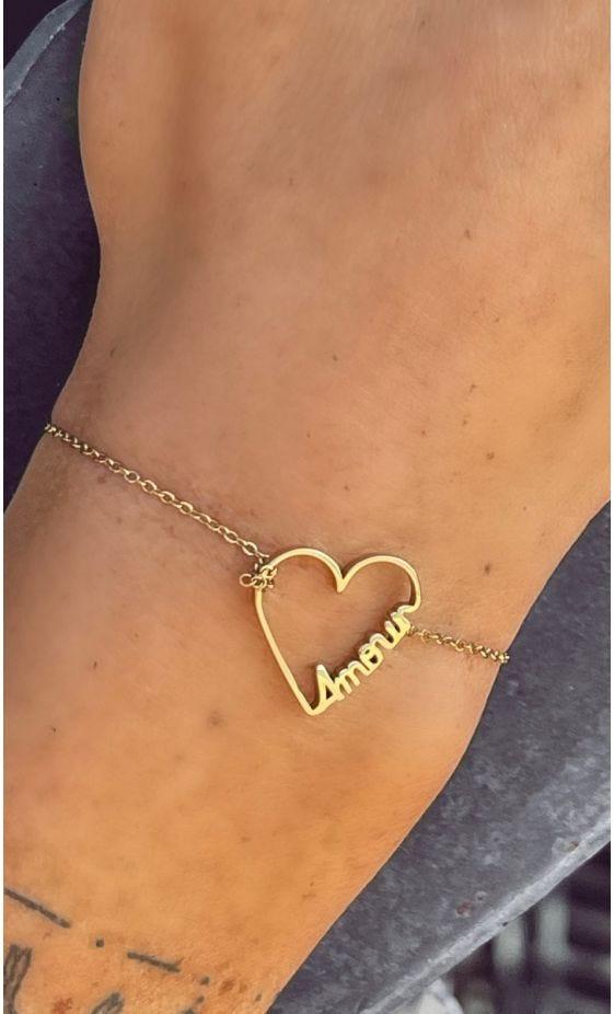 Bracelet Kitty Doré Heart Amour