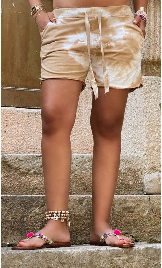 Short Ely Ultra-Light Tie And Dye Camel