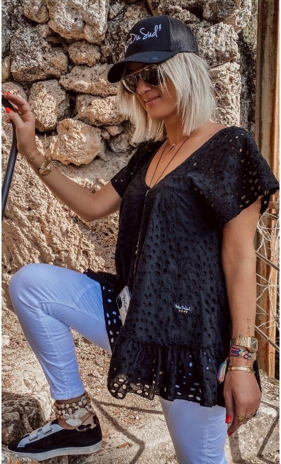Tunique Tess Broderie Noir