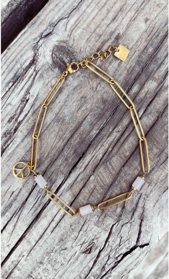 Bracelet De Cheville Tinou Blanc Peace
