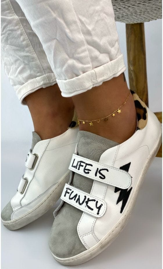 Baskets Scratch Amy Blanc Life Is Funky Contrefort Léopard