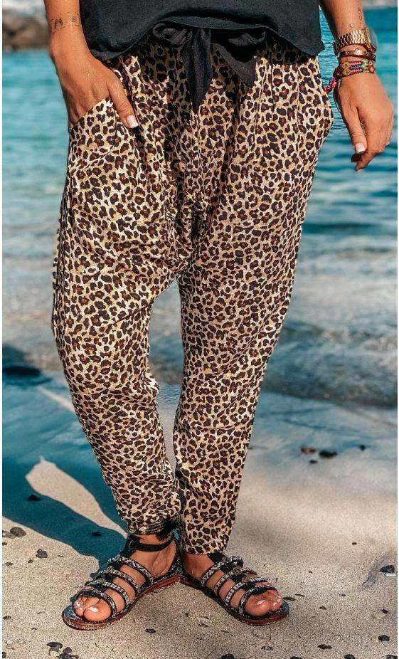 Pantalon Sergio Camel Léopard