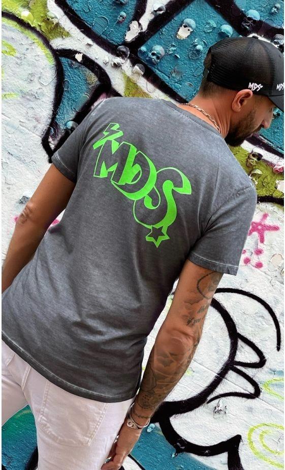 T-Shirt Mayron Gris MDS Vert