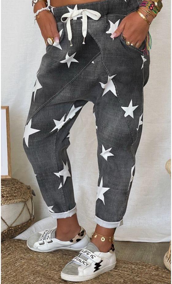 Pantalon Baggy Marlon Gris Star