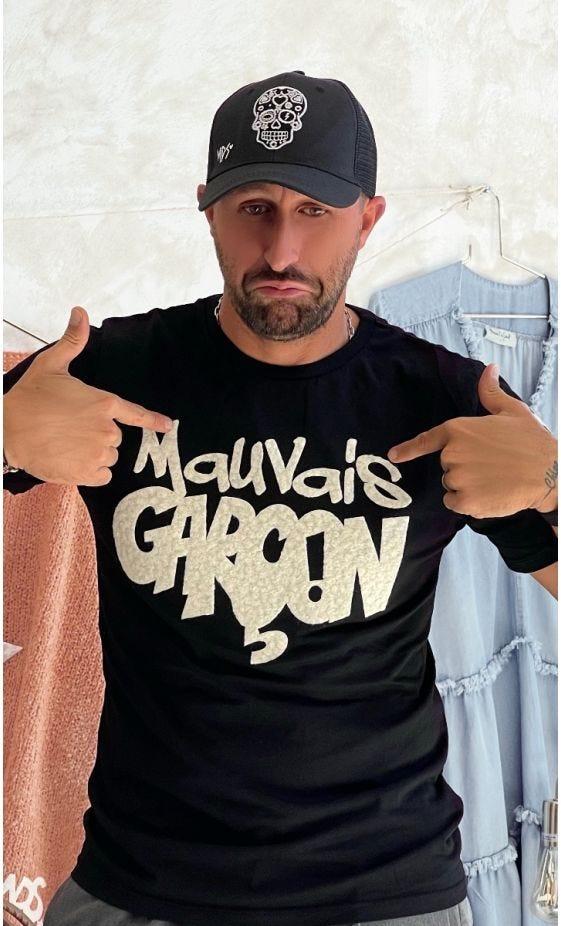 T-Shirt Mayron Noir Mauvais Garçon Blanc