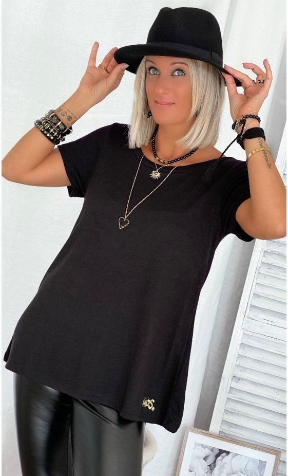 T-Shirt Quentin MC Maille Doudou Noir