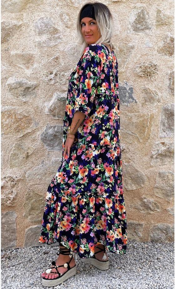 Robe Talya Noir Spring Shine
