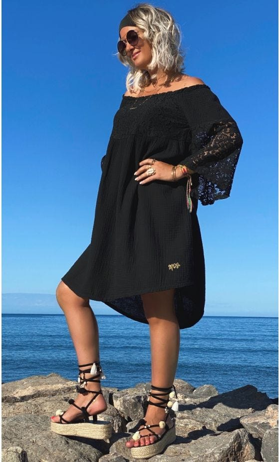 Petite Robe Virginie Dentelle Noir