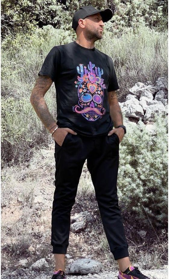 T-Shirt Mayron Noir Cactus Skull