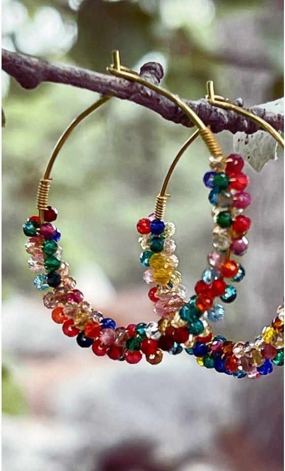 Boucles D'Oreilles Judith Multicolor