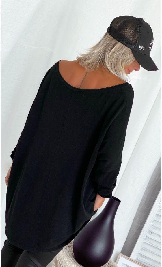 T-Shirt Oscar ML Oversize Noir