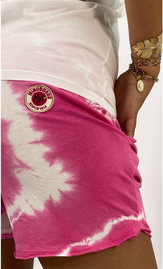 Short Ely Ultra-Light Tie And Dye Rose Fuchsia
