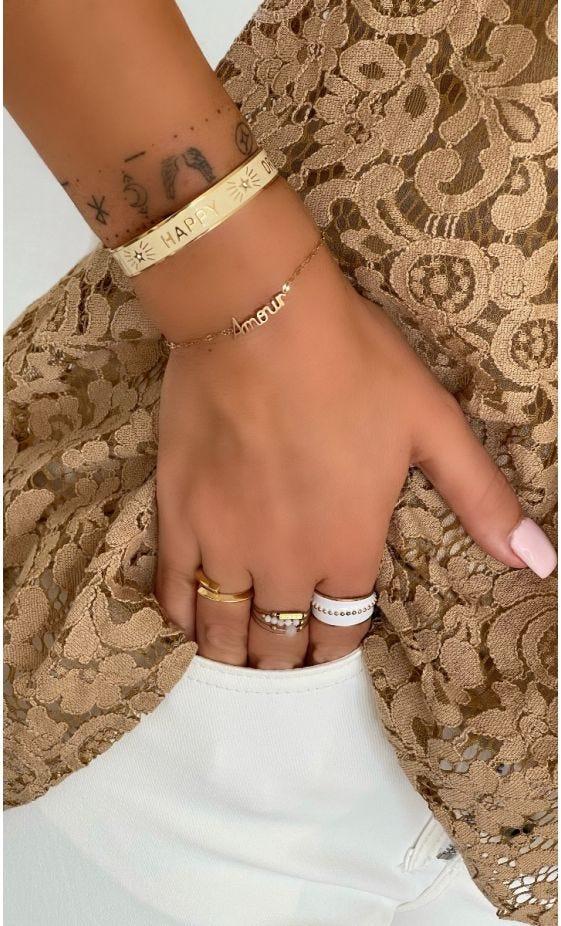 Bracelet Corinne Doré Amour
