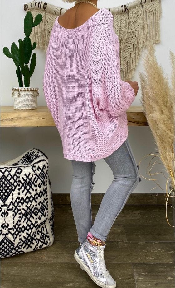 Pull Giani Petite Maille Rose Clair