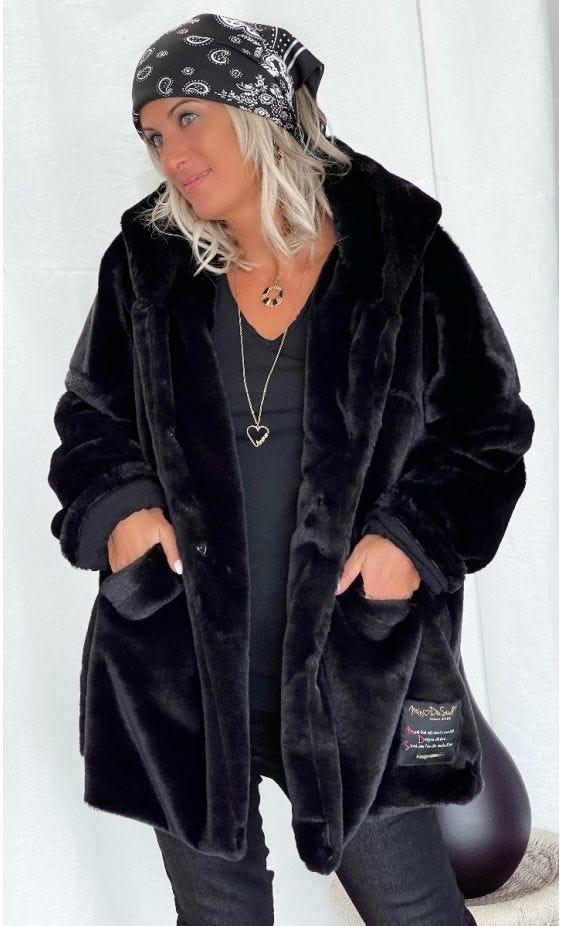 Manteau Lorenzo Oversize Noir