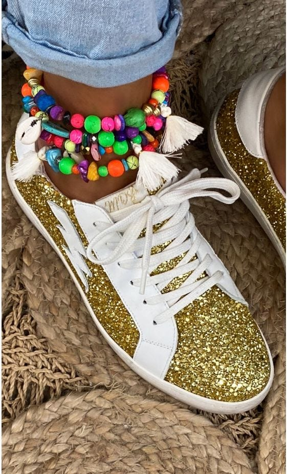 Baskets Amy Glitter Or