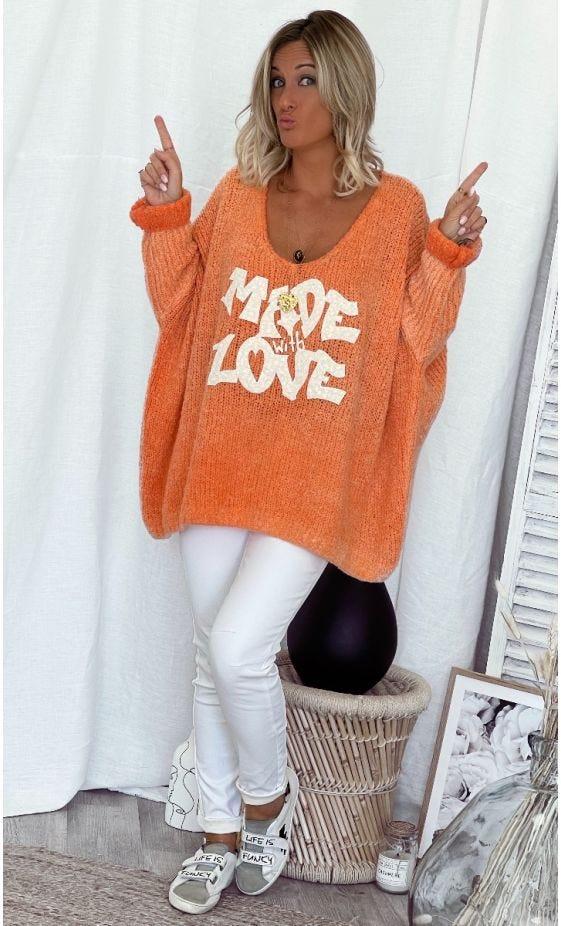 Pull Zack Oversize Orange Made With Love