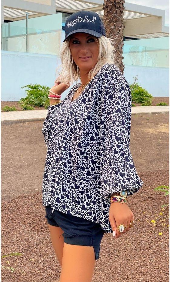 Tunique Nina Blanc Cassé Cuori Noir