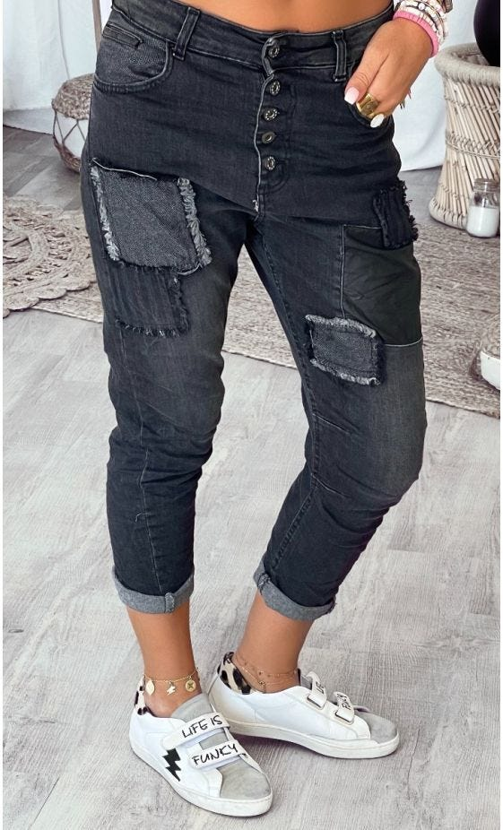 Jean's Fynn Used Gris Anthracite