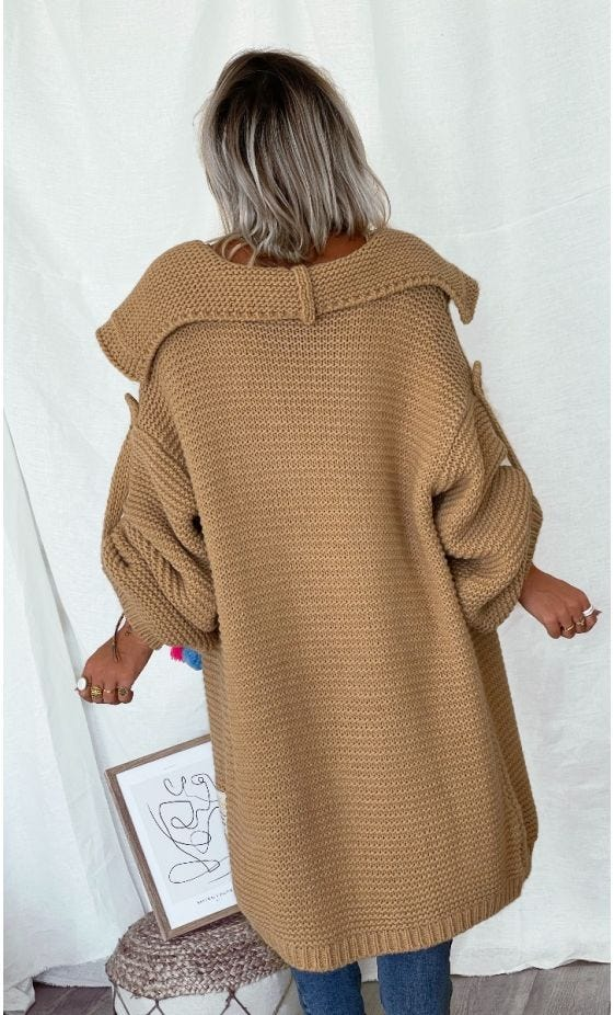 Gilet Luis Oversize Camel