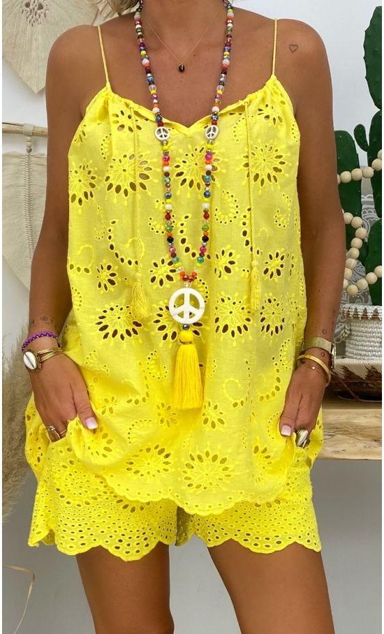 Tunique Tammy Broderie Jaune