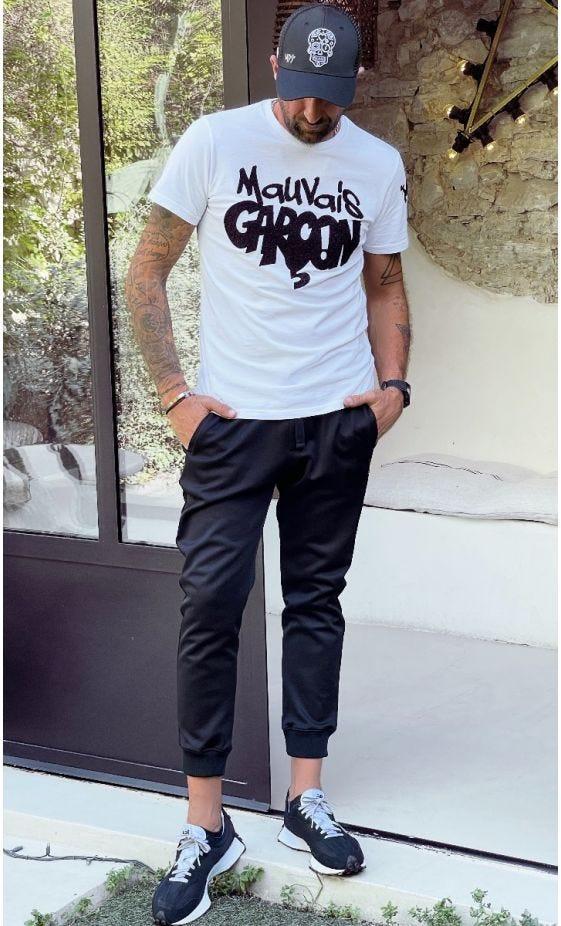 T-Shirt Mayron Blanc Mauvais Garçon