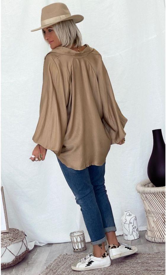 Tunique Kelly Satin Camel