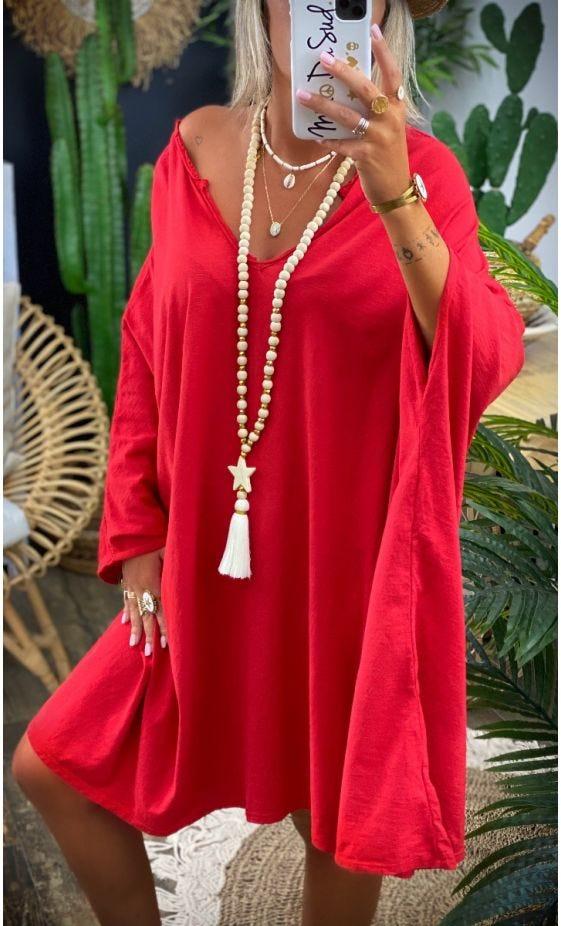 Petite Robe Sasha Oversize Rouge