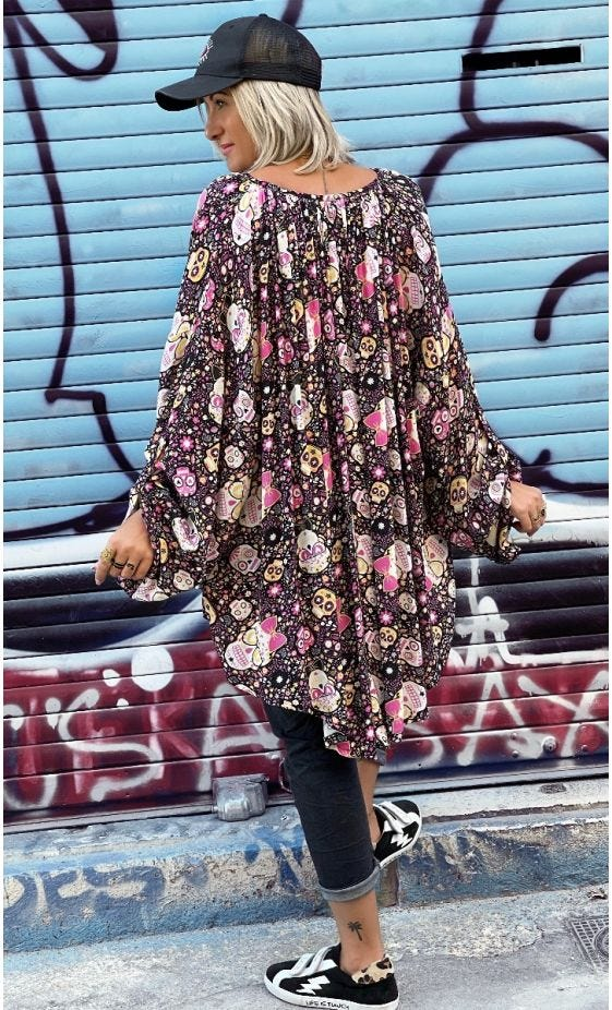 Tunique Clémence Oversize Noir Skully