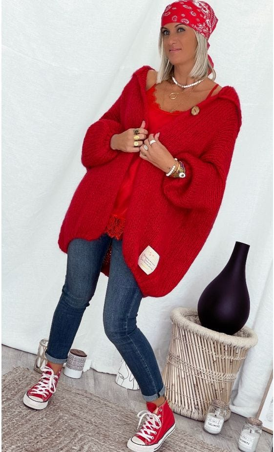 Gilet Maverick Oversize Rouge