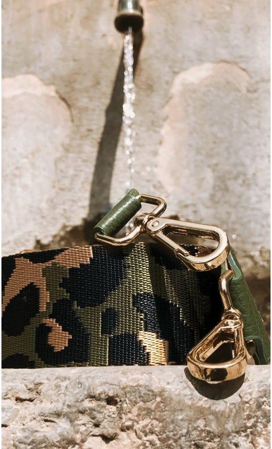 Bandoulière Amany kaki Camouflage