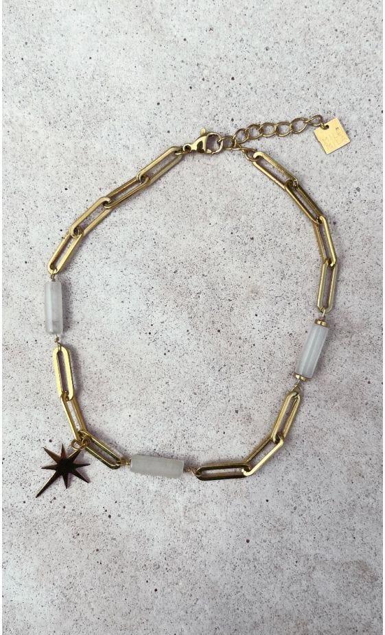 Bracelet De Cheville Tinou Blanc Star