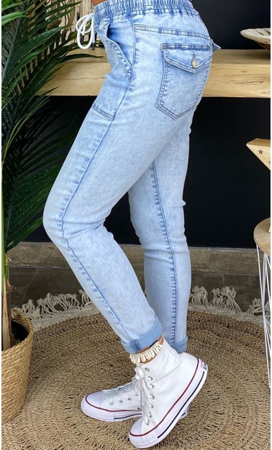 Jean's Slim Martin Bleach Pocket