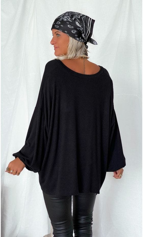 Pull Anthony Maille Doudou Noir