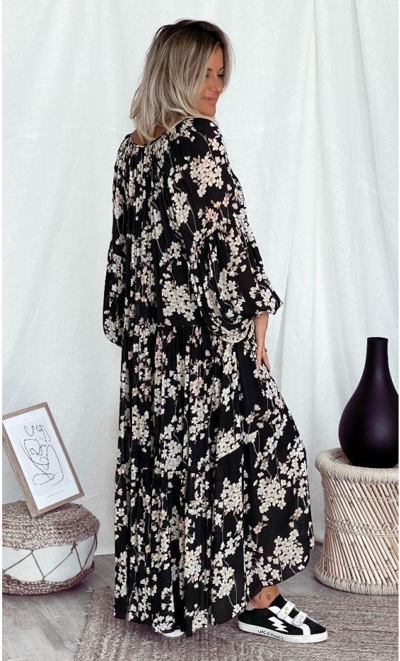 Robe Valou Noir Flores