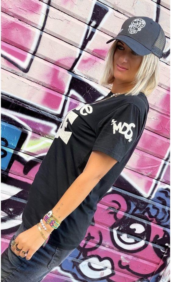 T-Shirt Mayron Noir Mauvaise Fille Blanc
