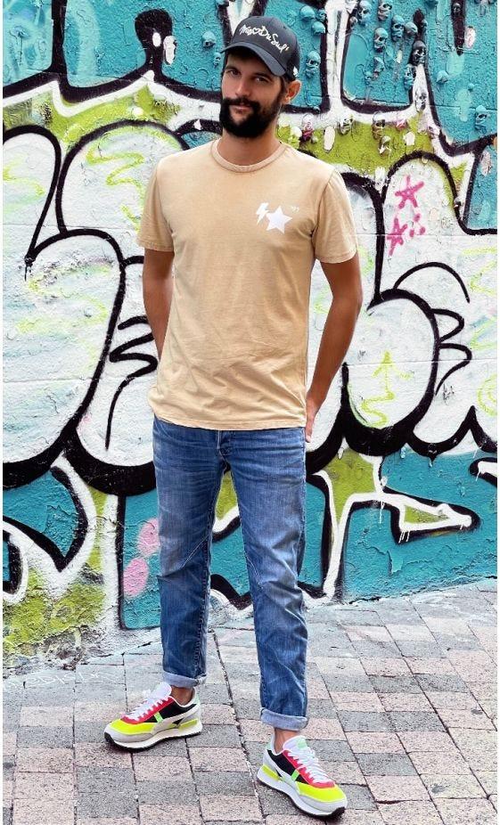 T-Shirt Mayron Camel MDS Blanc