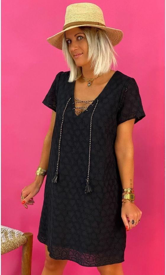 Petite Robe Lilia Broderie Noir