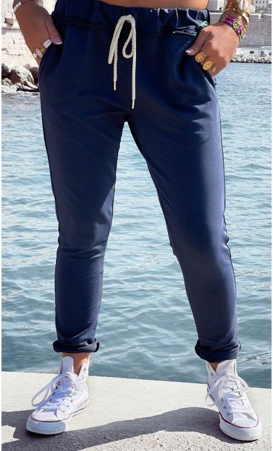 Jogg Joe Sweat Fin Bleu Marine