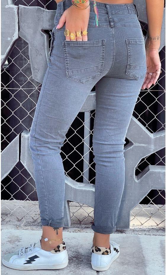 Pantalon Slim Charles Gris