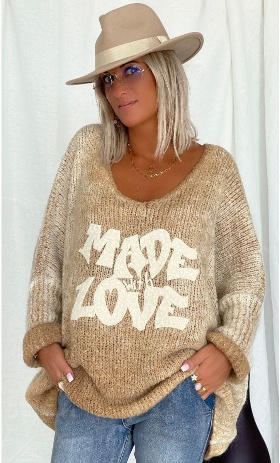 Pull Zack Oversize Camel Made With Love
