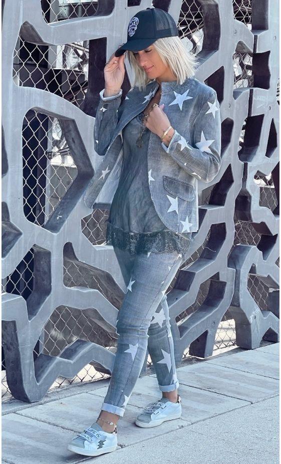 Pantalon Slim Jayden Gris Star