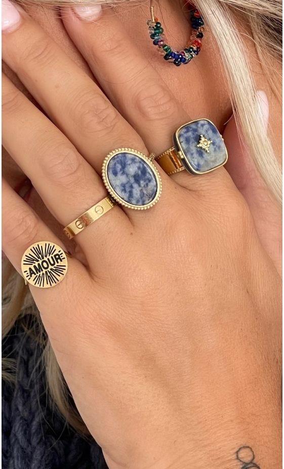 Bague Laure Doré Lapis Lazuli