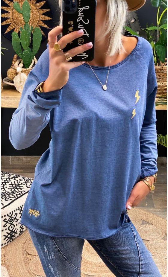 T-Shirt Isma Ultra-Light Bleu Marine