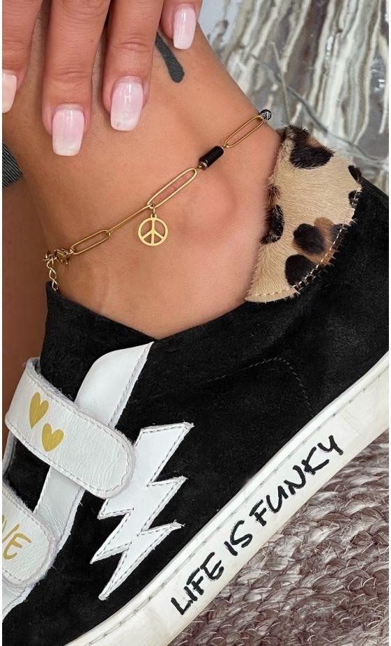 Bracelet De Cheville Tinou Noir Peace