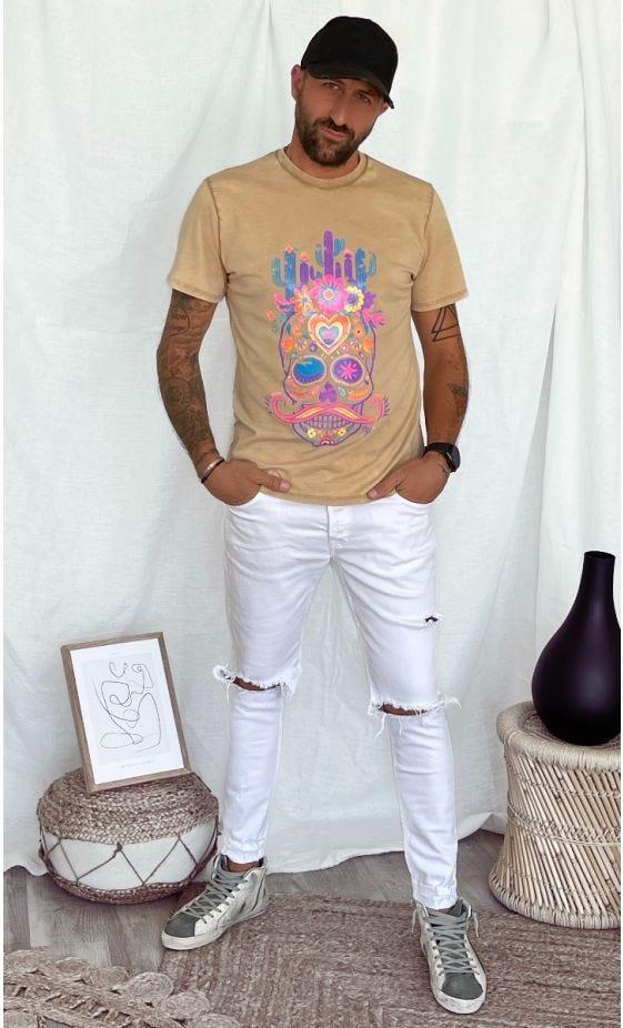 T-Shirt Mayron Camel Cactus Skull
