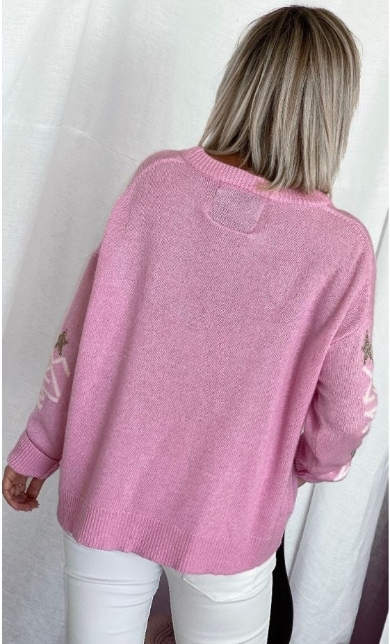 Pull Kenny Rose MDS Star Blanc & Or
