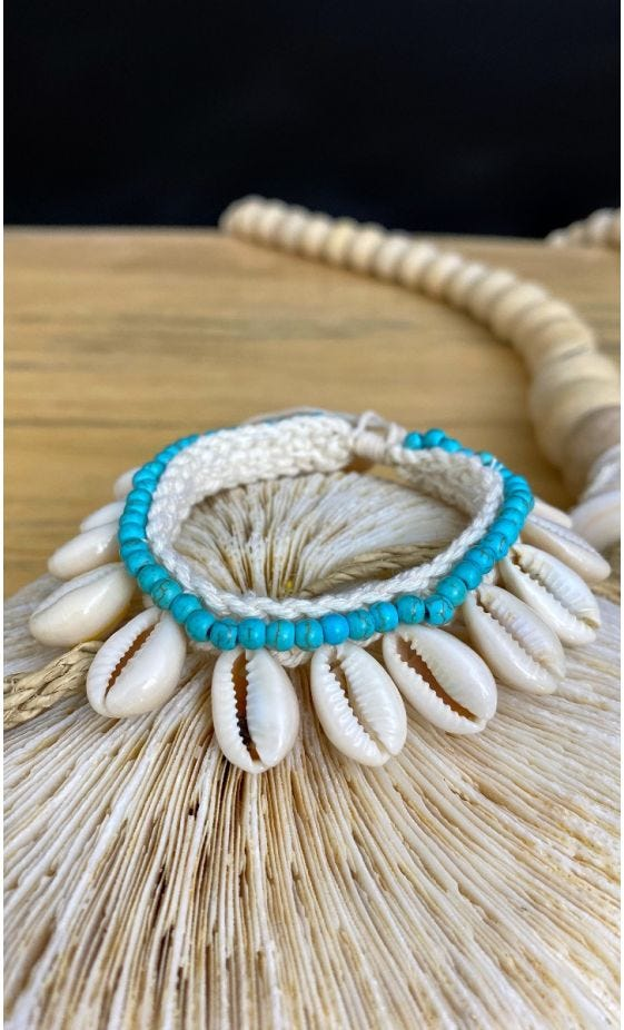 Bracelet De Cheville Kaili Bleu Turquoise